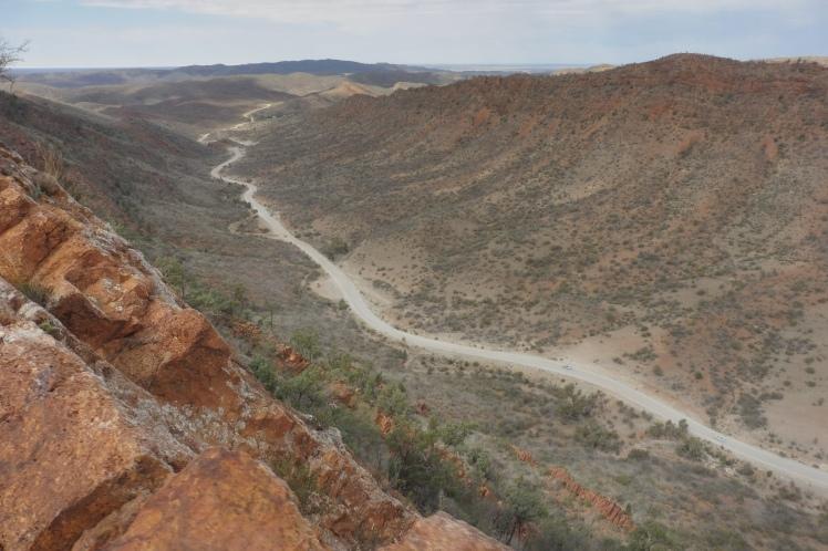 The Road leading to Arkaroola from the Acacia Ridge Walk