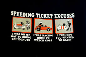 excuses to cops