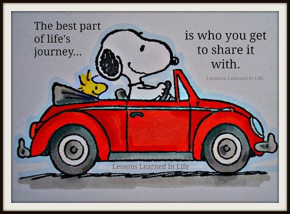 snoopy travel and love