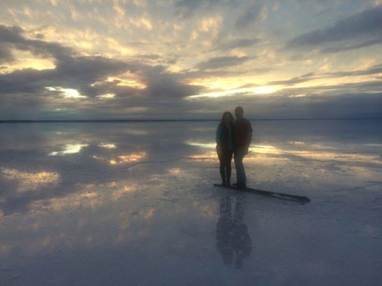 A salt lake oasis