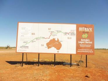 Outback Way sign