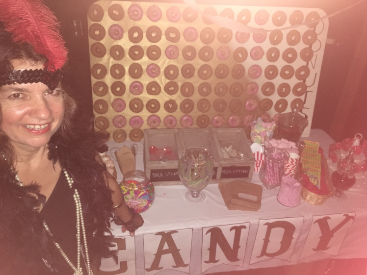 Me at the Candy Bar at a recent 1920s party
