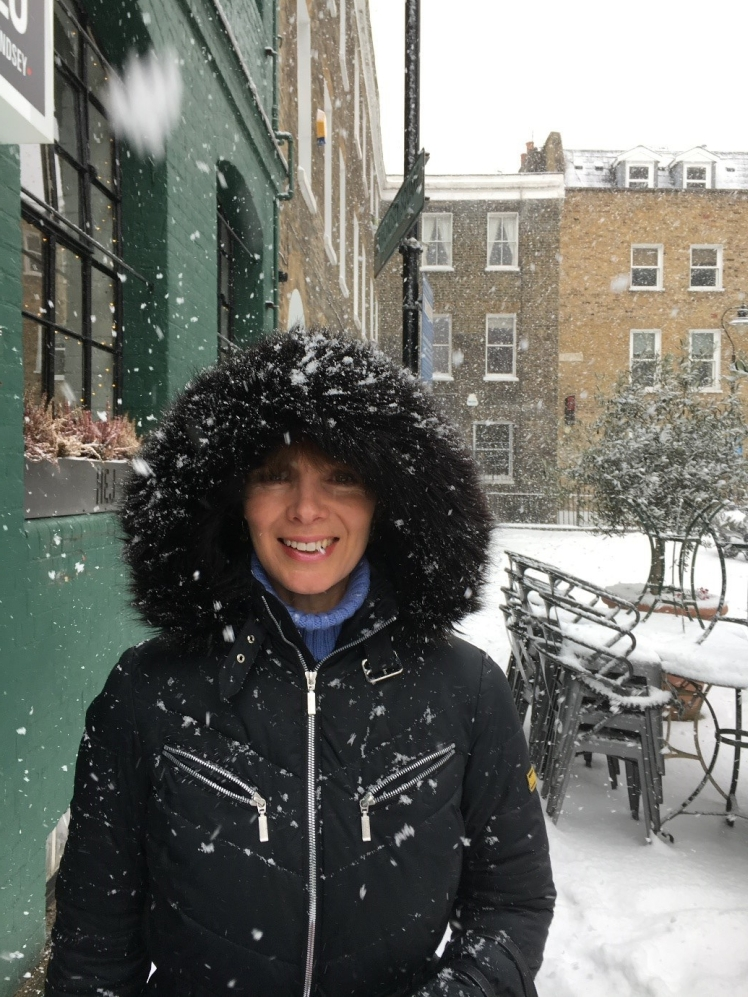 Di in the snow