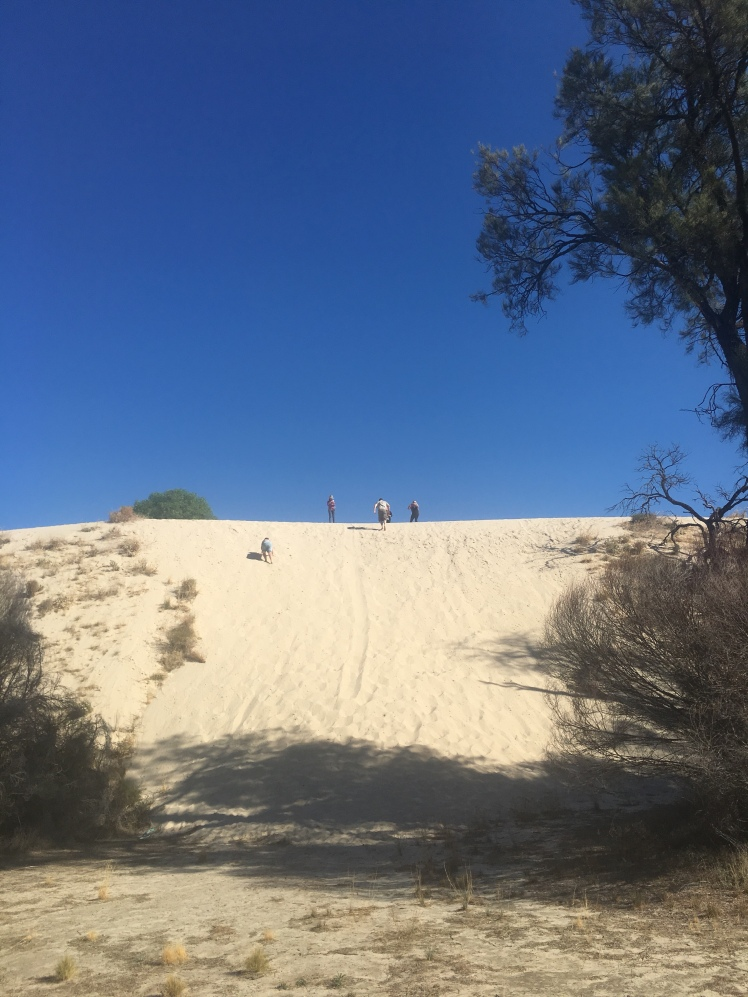 Snow drift sand dune