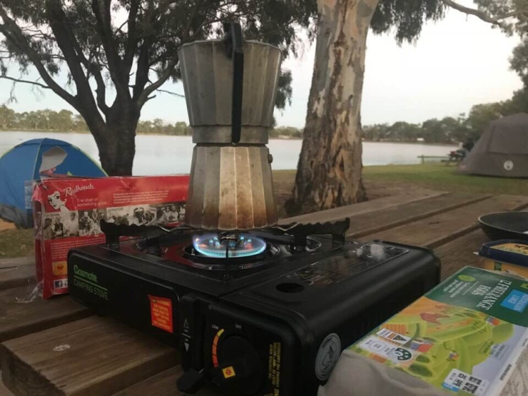 Coffee by Lake Lascelles (photo Norm McWilliams)