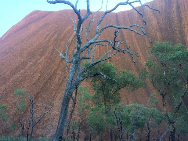 Beneath Ayers Rock