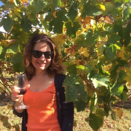 Wine amongst the vines at Merendoc Cellar door near Heathcote