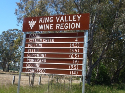 King Valley sign