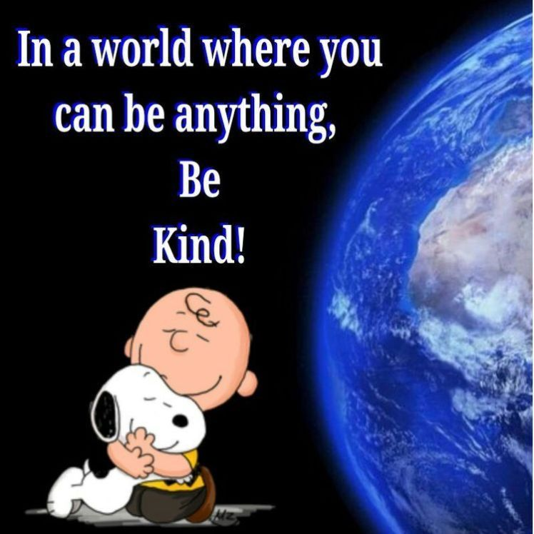 Snoopy Be Kind quote