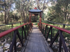 The Chinese bridge at Wandiligong