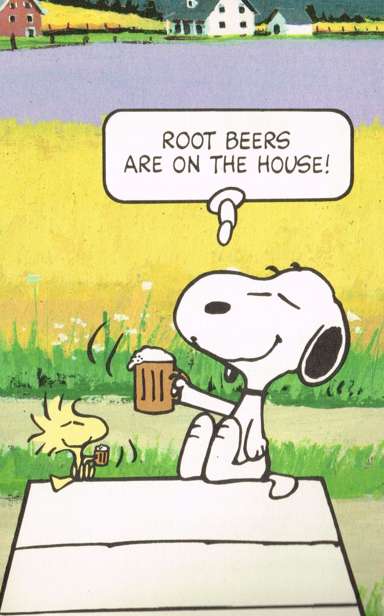 Snoopy root beers